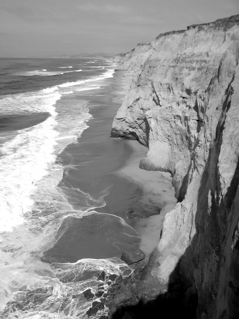 fractal coast near pescadero, calif