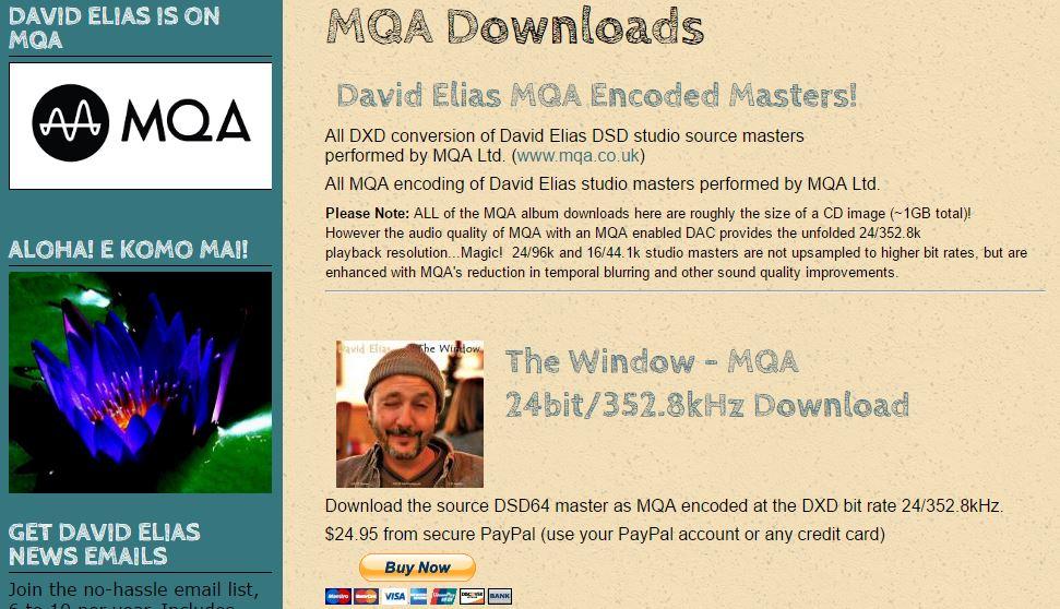 MQA Downloads now at www.davidelias.com