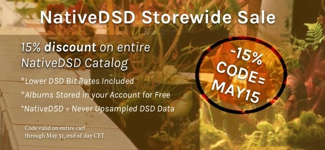 NativeDSD StoreWide Sale May 2018