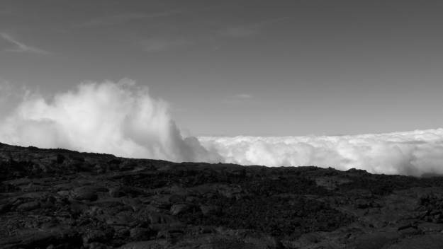 "Mauna Loa volcano at about 9000 feet, photo by David Elias, from artist's ""Poor Polly"" video on YouTube"